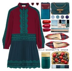 """Fall Dress"" by barbarela11 ❤ liked on Polyvore featuring Tory Burch, Chanel, The Sak, Terre Mère, Marc Jacobs and Clinique"