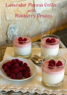 Italian Food Forever » Lavender Panna Cotta With Raspberry Foam
