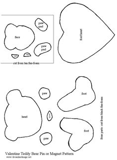 PK-128a Tear Bear and Bunny Template Stamps (med) PK-128a