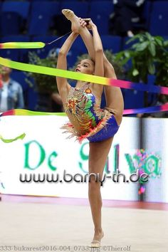 Dina AVERINA (Russia) ~ Ribbon @ GP Bukarest 2016  Photographer  Bernd Thierolf.