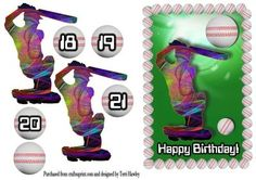 Cricket man on Craftsuprint - Add To Basket! Cricket, Birthday Cards, Make It Yourself, Numbers, Decoupage, Greeting Cards, Card Making, Bday Cards, Cricket Sport