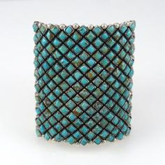 Turquoise Row Cuff by Alice Lister - Garland's Indian Jewelry
