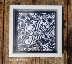 Wedding Day Papercut Gift