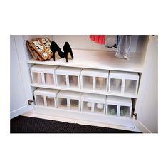 SKUBB Boîte à chaussures - blanc - IKEA