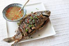 Crispy Fried Fish in Ginger Garlic Sauce - Ang Sarap