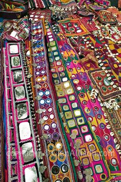 India -- mirror work textiles. I need these for my walls :)