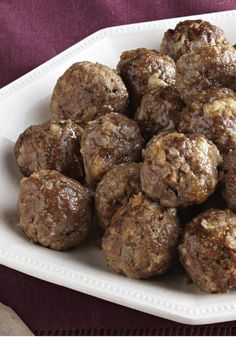 Basic Meatballs -- The recipe may be called Basic Meatballs, but it's far from basic in taste! This appetizer is sure to become a party favorite--ready to serve in less than 30 minutes flat.