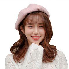 ee515cb7b1e Beret children s autumn and winter Korean version of the Japanese wild  octagonal cap British wool bud cap pumpkin retro painter hat