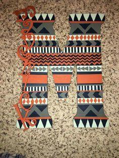 Aztec letter for nursery