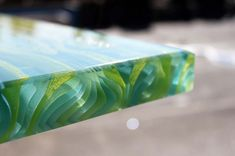 Ribbon glass fresh green countertop