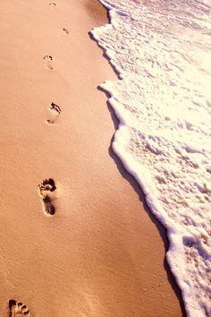 footprints in the sand the reason you only saw one set was because I was carryin. footprints in th Beach Walk, Beach Bum, Beach Trip, San Diego, I Love The Beach, Summer Fun, Summer Baby, Seaside, Paths