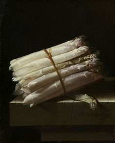 Only 20 more nights until you can once again see Adriaen Coorte's Still life with asparagus (1697). Coorte remains a bit of a mystery; his still life paintings are very unlike the extravagant still lifes of his contemporaries.