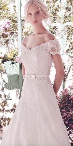 Stylish and elegant wedding dress
