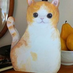 "3/4"" plywood cut-out kitty"