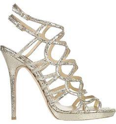 Jimmy Choo Platform Metallic Sandal