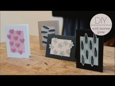 DIY - Invitations with block printing by Sostrene Grene.