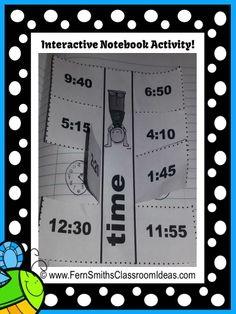 Springtime Time - Printables and Interactive Notebook Activities For 1.MD.B.3 #FREEBIE Interactive Notebook Activity in Preview #Free #TPT $Paid