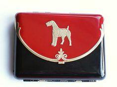 Rare ART DECO Purse Compact Rouge Cigarette Case Antique Makeup Vintage WOW