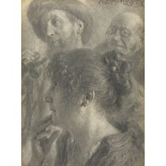 adolph menzel graphite drawing