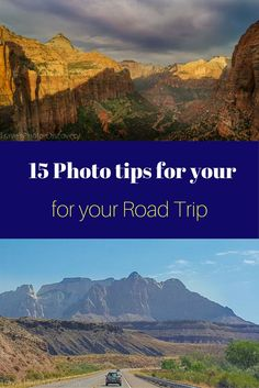 15 fantastic photography suggestions and tips when you are taking a road trip. If you want to come home with amazing pictures, check out this post here http://travelphotodiscovery.com/15-photography-tips-on-your-road-trip/