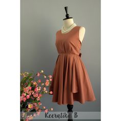 Flash Coffee Brown Dress Brown Party Dress Brown Prom Dress Brown... ($32) ❤ liked on Polyvore featuring dresses, grey, women's clothing, backless dresses, holiday cocktail dresses, backless prom dresses, special occasion dresses and silk prom dresses
