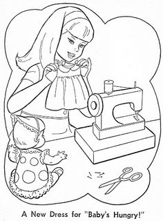 Coloring Book~Baby's Hungry - Bonnie Jones - Picasa Web Albums Free Kids Coloring Pages, Barbie Coloring Pages, Coloring Book Pages, Coloring Pages For Kids, Coloring Sheets, Adult Coloring, Human Drawing, Cat Drawing, Line Drawing