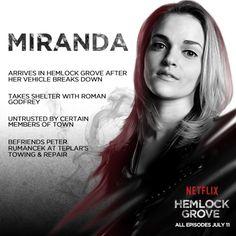 What do you think awaits Miranda in Hemlock Grove?