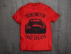 Ferrari 250 GTO shirts, Ferrari Berlinetta, Ferrari t shirts, Cars t shirts, men tshirts, women t shirts, 1962 classic Ferrari GTO t shirts by MotoMotiveInk on Etsy