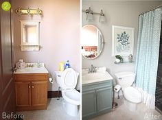 Small Bathroom Makeovers On Pinterest Bathroom Makeovers Small Bathrooms A