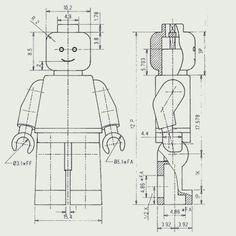 Disegno tecnico Minifigure. Qualora voleste crearne di nuove...