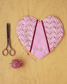een hartje quilten  klein en leuk