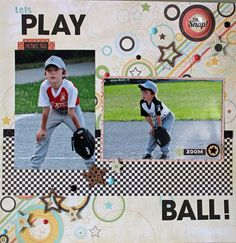 Fabric or scrapbook paper for a background with a painted initial in an open frame Baseball Scrapbook, School Scrapbook, Scrapbook Titles, Scrapbook Journal, Disney Scrapbook, Scrapbooking Layouts, Scrapbook Cards, Scrapbook Photos, Baseball Mom