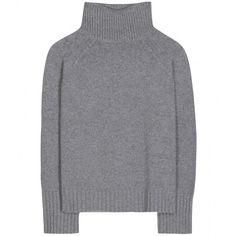 Vanessa Bruno Wool and Cashmere-Blend Turtleneck Sweater (1.225 BRL) ❤ liked on Polyvore featuring tops, sweaters, jumpers, shirts, grey, gray turtleneck, grey turtleneck sweater, turtle neck shirt, wool turtleneck and gray sweaters