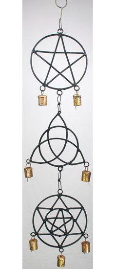 Pentagram, Triquetra, Solomon`s Seal Wind Chime 5