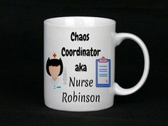 The perfect gift for a nurse! Great gift for her or gift for him, We can totally personalise these including the colours of the nurses (skin tones, hair, accessories), simply tell us your preference when you order Gifts For Him, Great Gifts, Nurse Mugs, Chaos Coordinator, China Mugs, Online Gifts, Inspirational Gifts, Nurses, Hair Accessories