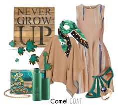 """""""Camel Coat"""" by leptismagna ❤ liked on Polyvore featuring Issa, Second Nature By Hand, Robert Clergerie, MICHAEL Michael Kors, MAC Cosmetics, Dolce&Gabbana and camelcoat"""