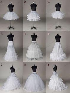 All Style Wedding Bridal A-line/ Train Petticoat/ Hoop/ Short skirt/ Crinoline