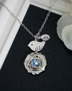 Personalized Silver Jewelry  Silver Necklace by MenuetDesigns, $29.50 by charity