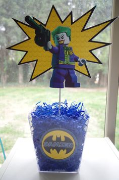 Lego Batman Centerpiece by CREATINGxNEVERLAND on Etsy