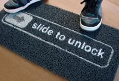 iphone Unlock Doormat - haha!