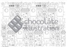 """Ilustración """"Equipaje Cósmico II"""" (versión con más elementos). Ideal para imprimir en tamaños grandes (si imprimes en A4 afila bien los colores o pinta con rotulador de punta milimétrica!). La tienes en https://chocolateillustration.com/ilustraciones/equipaje-cosmico-ii/ #chocolateillustration #dibujosparapintar #colorear #yocoloreo #analinea #equipajecosmico"""