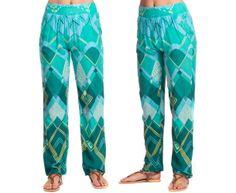 Summer Women's Nirvana Pants - Sky/Green