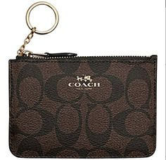 Coach Brown Signature PVC Canvas Key Coin Pouch Purse Wallet Case 63923 >>> Be sure to check out this awesome product.Note:It is affiliate link to Amazon.