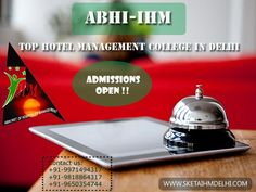 #Admissions Open in Top Hotel Management College- ABHI IHM. Visit: