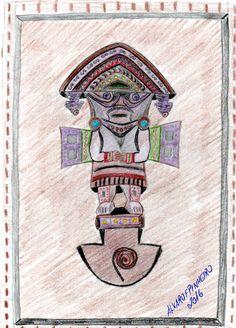 Trabalho em aquarela 2016 Deus Inca