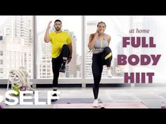 Fit Life Video: 30-Minute HIIT Cardio Workout with Warm Up - No Equipment at Home | SELF