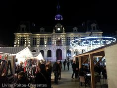 Christmas lights in Poitiers - aahhh!