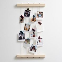 Timeframe's Hanging Peg Photo Display is the perfect way to display your cute Polaroid Prints. Made of stylish wood, this frame goes well with your pics and our pegs. This frame was made with pine and rope. Hanging Polaroids, Polaroid Display, Hanging Photos, Frame Display, Display Ideas, Ways To Hang Polaroids, Photo Hanging, Display Design, Funny Photo Frames