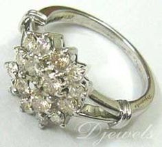 #White Gold Diamond Ladies Ring    Buy Now ! repin .. like .. share :)    $635.00  http://amzn.to/YQlKvT