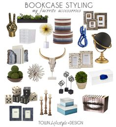 Looking for stylish accessories? Struggling on how to style your bookcase. Get tips + tricks on Town Lifestyle + Design